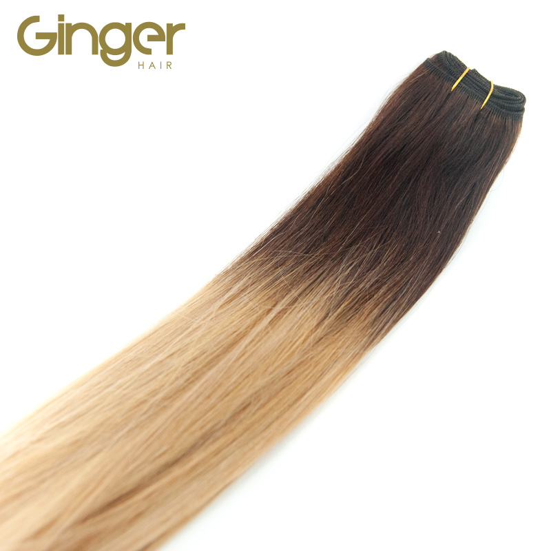 Caída del pelo natural de las extensiones tejidas californianas de Ginger