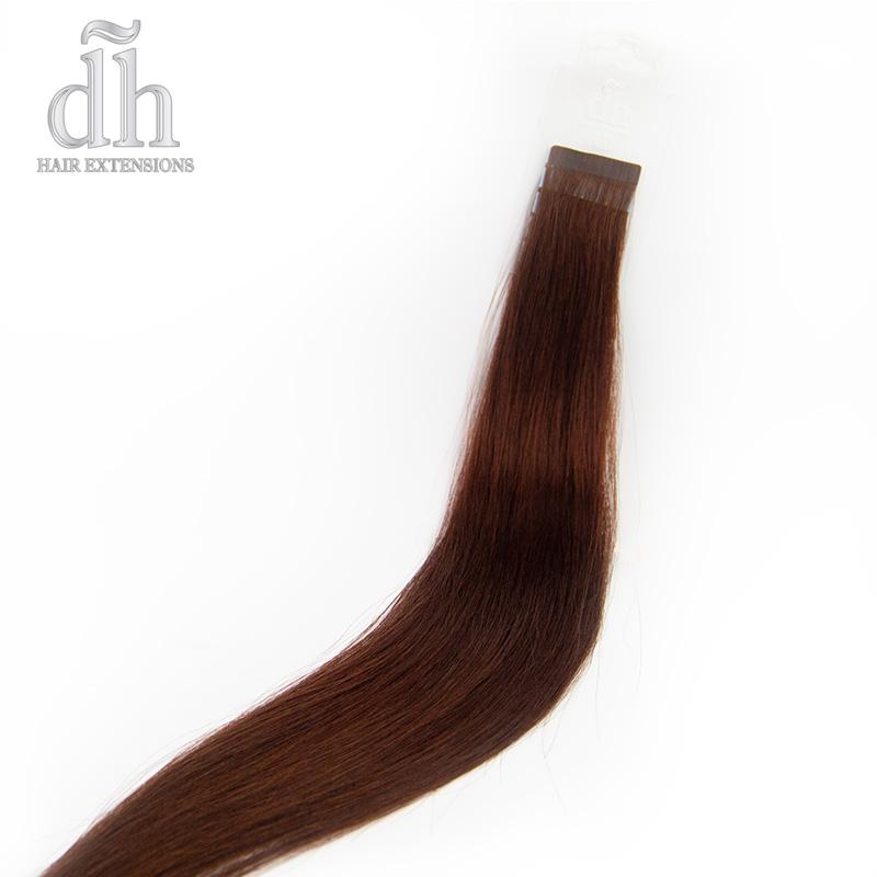 Caída del cabello Remy de las extensiones Adhesivas Dh Hair Extensions