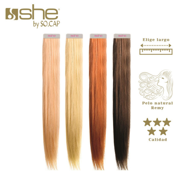Extensiones adhesivas SHe By Socap