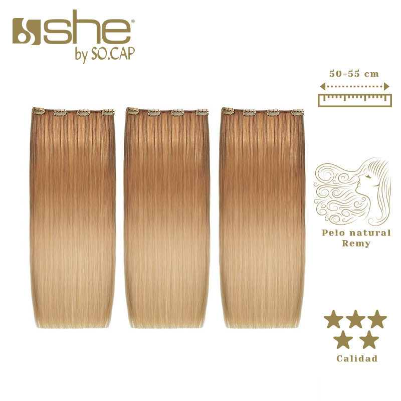 Extensiones de clip Easy 20 californianas de la marca She by Socap