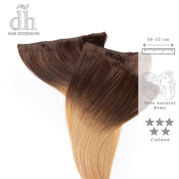 Extensiones de clip californianas Remy - DH Hair Extensions, 3 capas