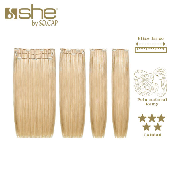 Extensiones de clip Easy Volume de la marca She by Socap