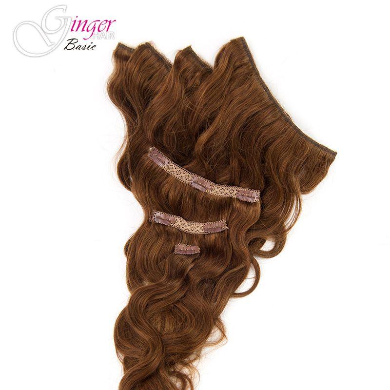 Extensiones de clip onduladas, detalle de la caída del cabello