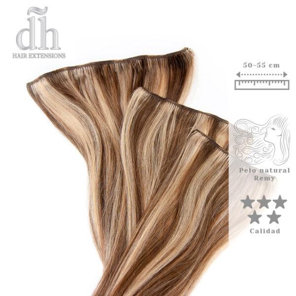 Extensiones de clip Remy - DH Hair Extensions