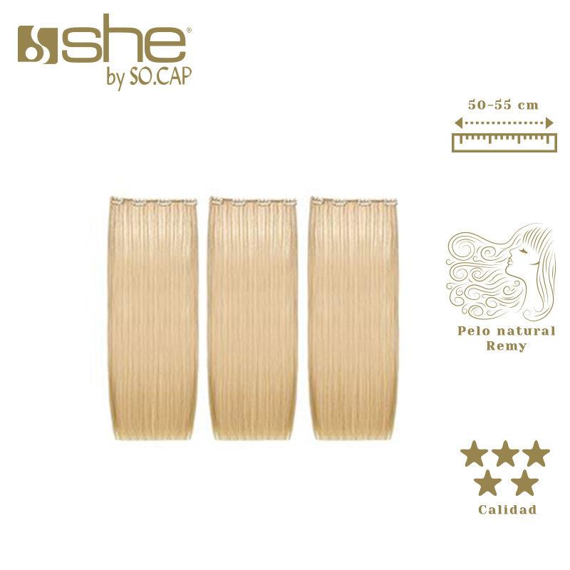 Extensiones de clip Theeasy de la marca She by Socap (3 capas)