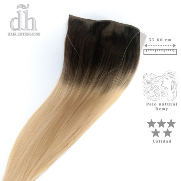 Extensiones de hilo invisible californianas Remy - DH Hair Extensions