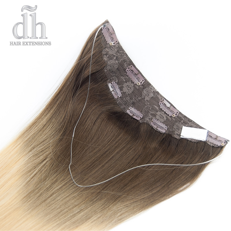 Extensiones de hilo invisible californianas Remy - DH Hair Extensions
