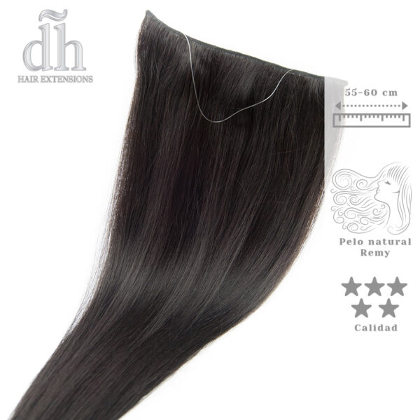 Extensiones de hilo invisible cabello Remy - DH Hair Extensions