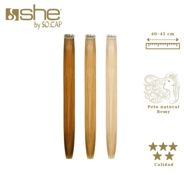 Extensiones de clip One Clip de la marca She by Socap