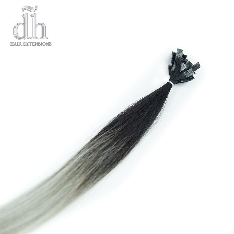 Extensiones de queratina californianas, cabello Remy de DH Hair Extensions