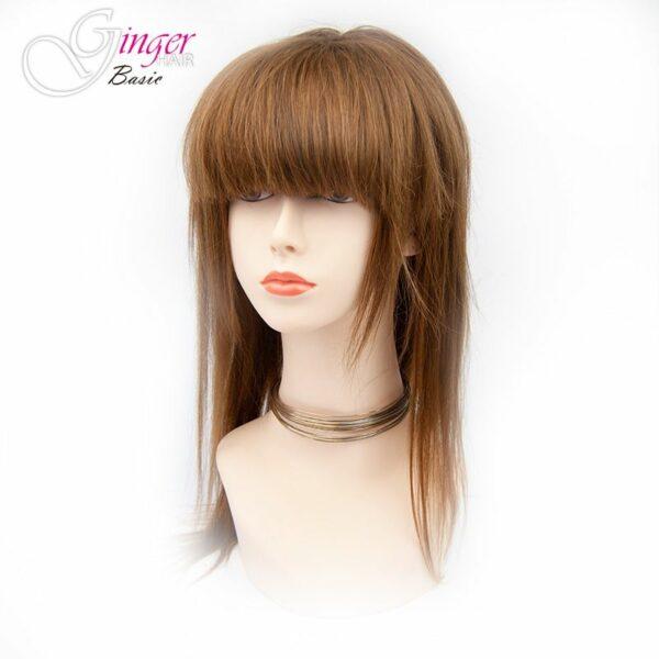 Flequillo postizo Ginger Basic con forma recta de pelo natural