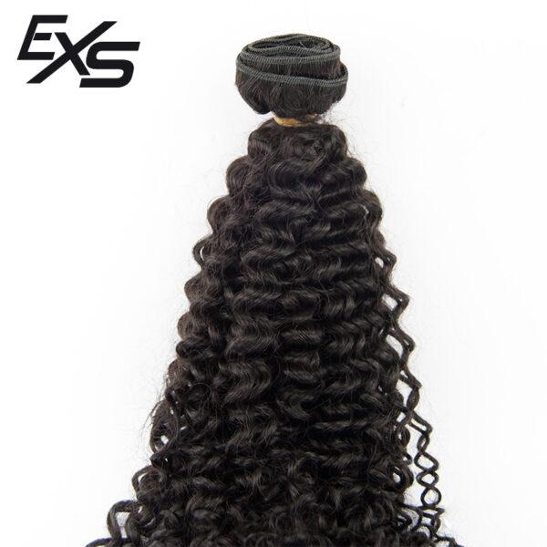 Pelo virgen de cabello hindú cosido con textura afro