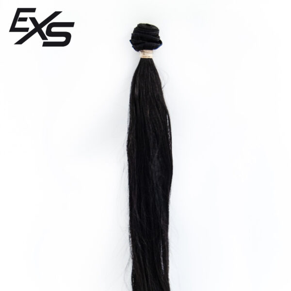 Pelo virgen de cabello hindú cosido con textura lisa