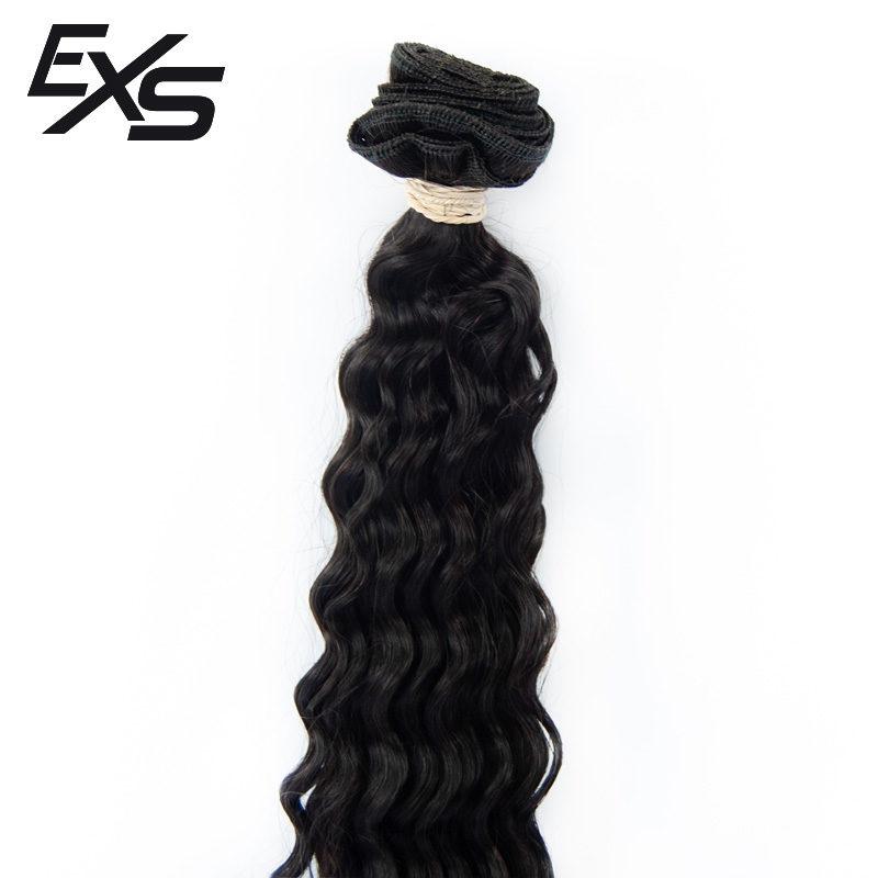 Pelo virgen de cabello hindú cosido con textura rizada