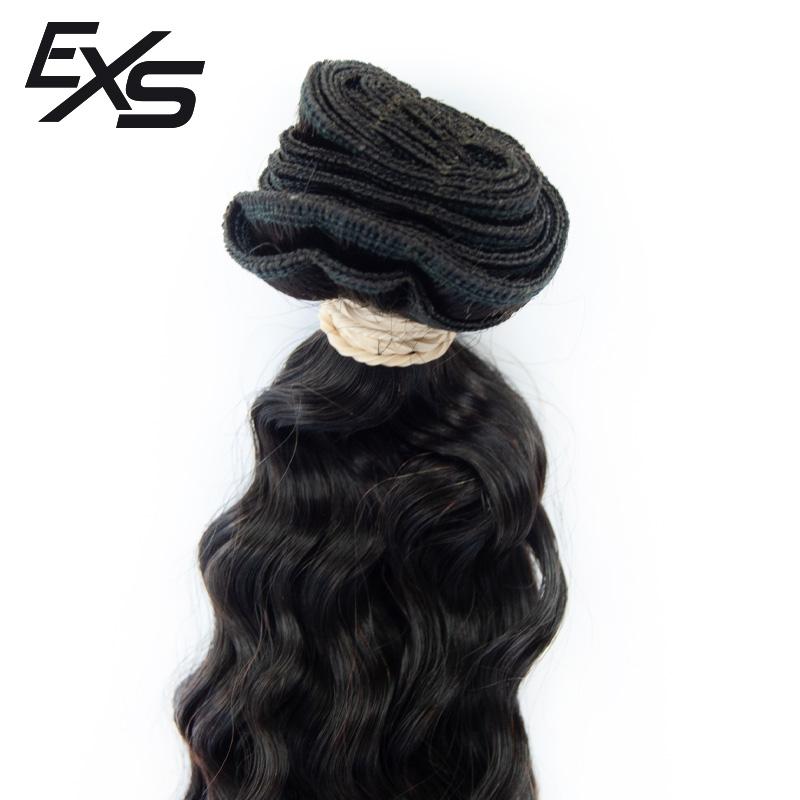 Pelo virgen de cabello hindú cosido detalle de la zona tejida