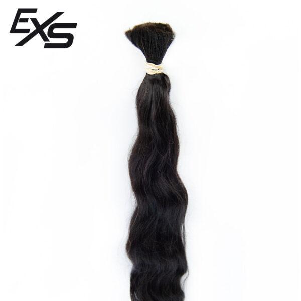 Pelo virgen de cabello hindú suelto con textura ondulado