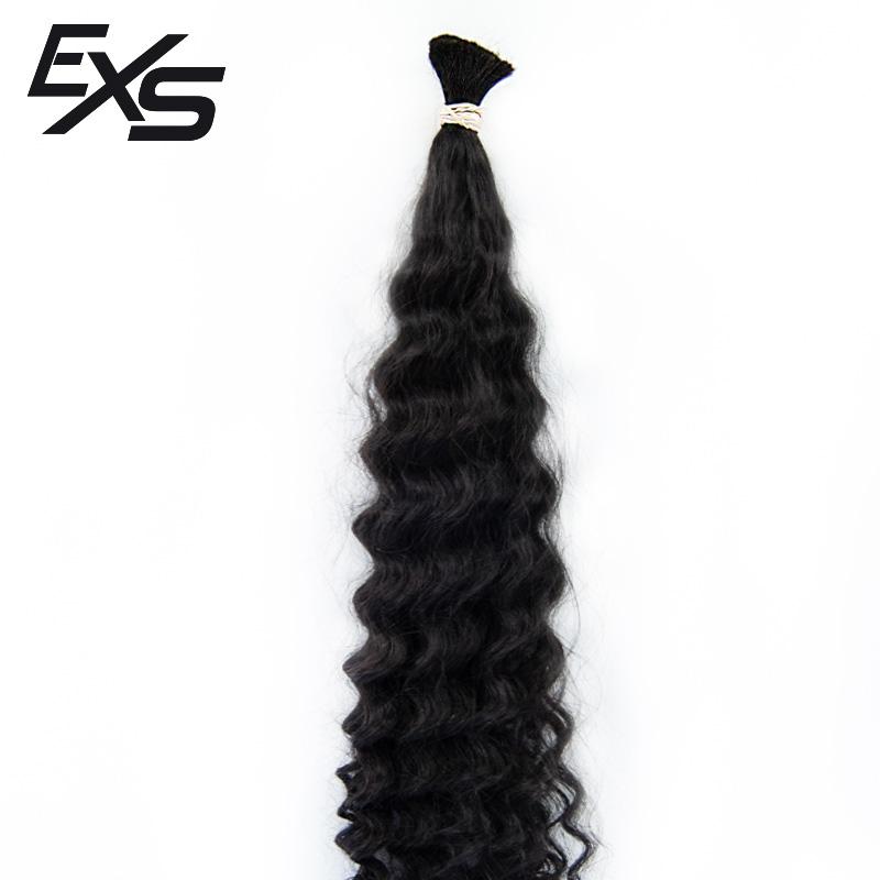 Pelo virgen de cabello hindú suelto con textura rizado