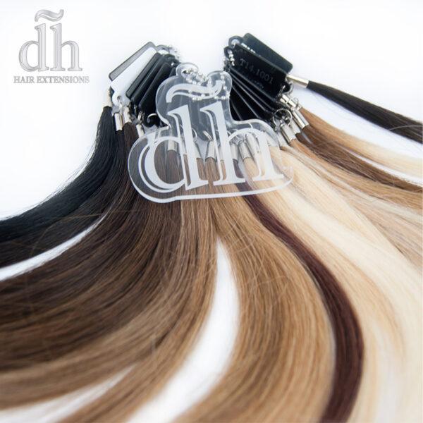 Muestrario de color de la marca DH Hair Extensions