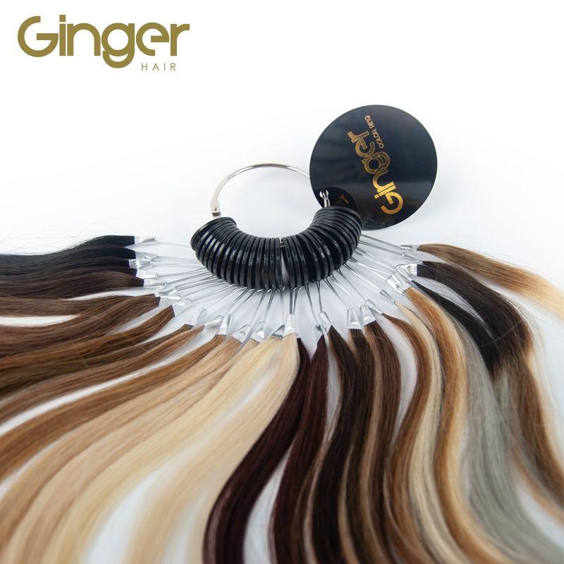 Detalle de la anilla de color de las extensiones de pelo natural marca Ginger Hair