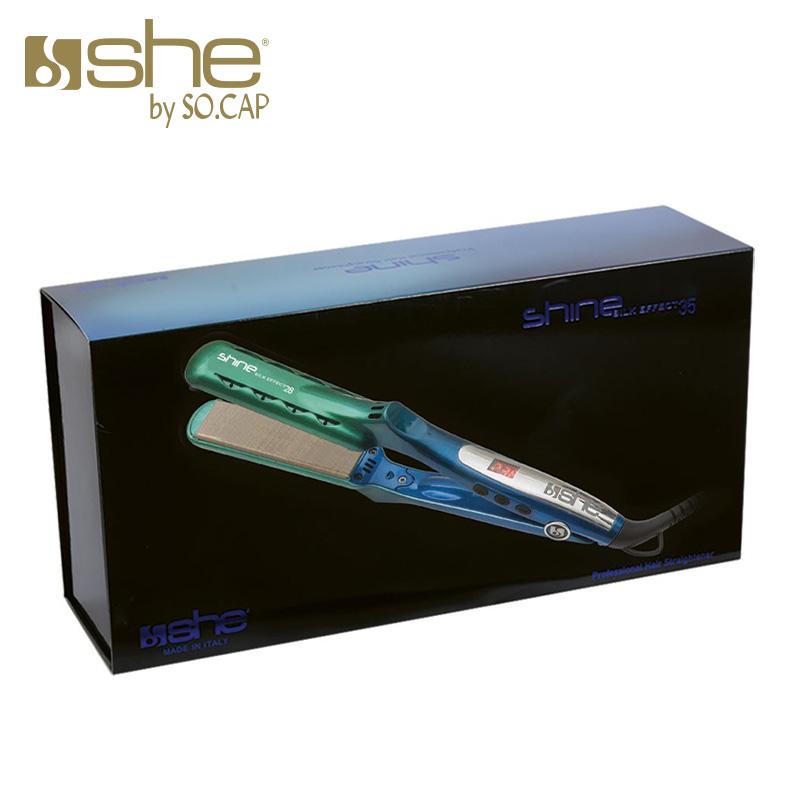 Packaging plancha alisadora Shine Silk Effect 35