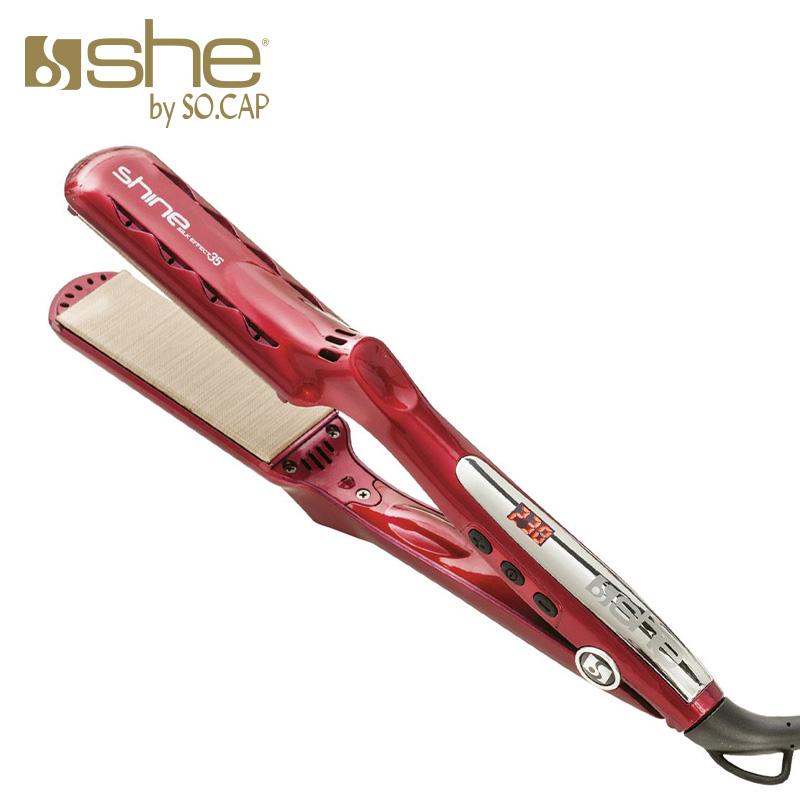 Plancha alisadora Shine Silk Effect 35 color rojo