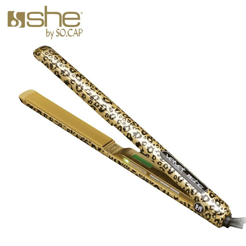 Plancha alisadora Velvet Gold estampada