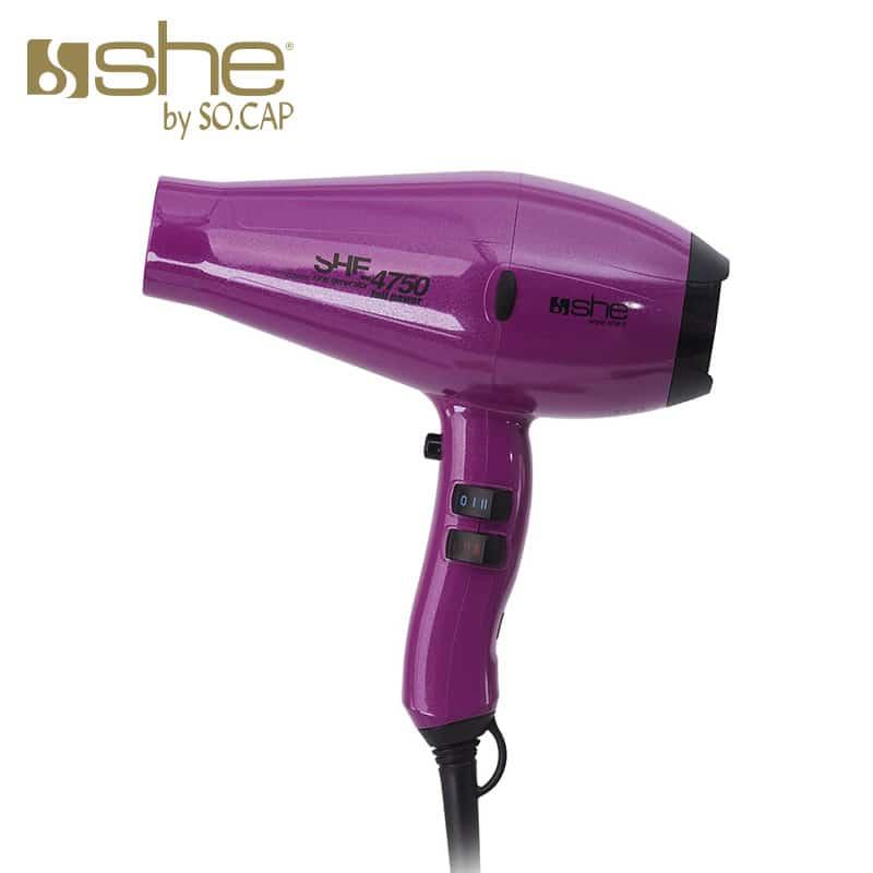 Secador profesional 4750 violeta - She by SOCAP