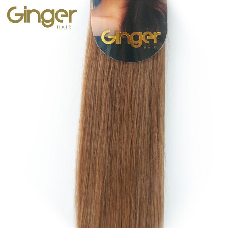 Detalle de la textura lisa de las extensiones cosidas de Ginger