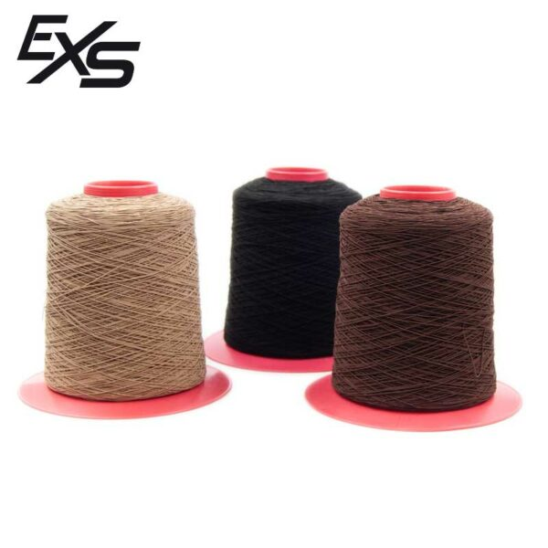 Bobinas de hilo elástico de 1000 metros para extensiones de nudo en color beige, negro o marrón