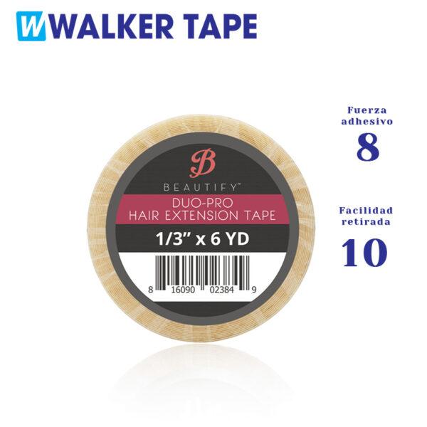 Cinta adhesiva doble cara duo pro de Walker tape para recambio de extensiones adhesivas