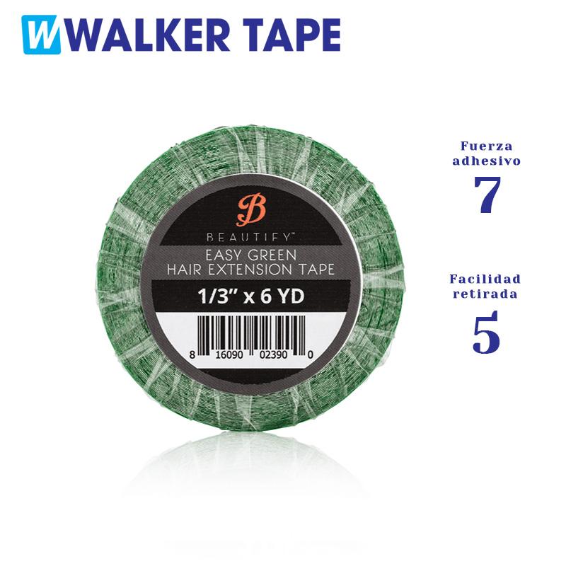 Rollo de cinta adhesiva de doble cara Easy Green para recambio de extensiones Adhesivas. Fortaleza nivel 7 y facilidad de retirada nivel 5
