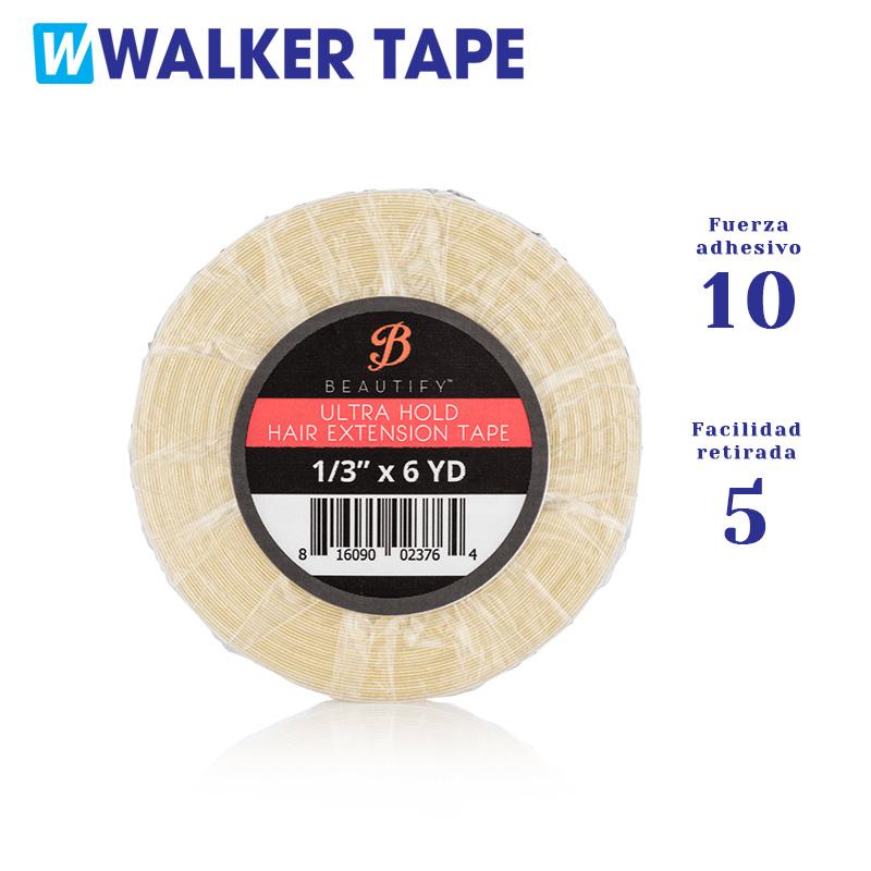 Cinta adhesiva ultra hold de doble cara, marca Walker Tape con fortaleza de adhesivo nivel 10 y facilidad de retirada nivel 5