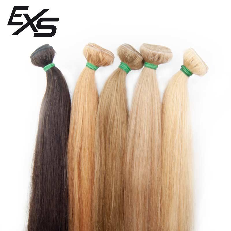 Extensiones de cortina en pelo virgen asiático con el color dado de castaños a rubios