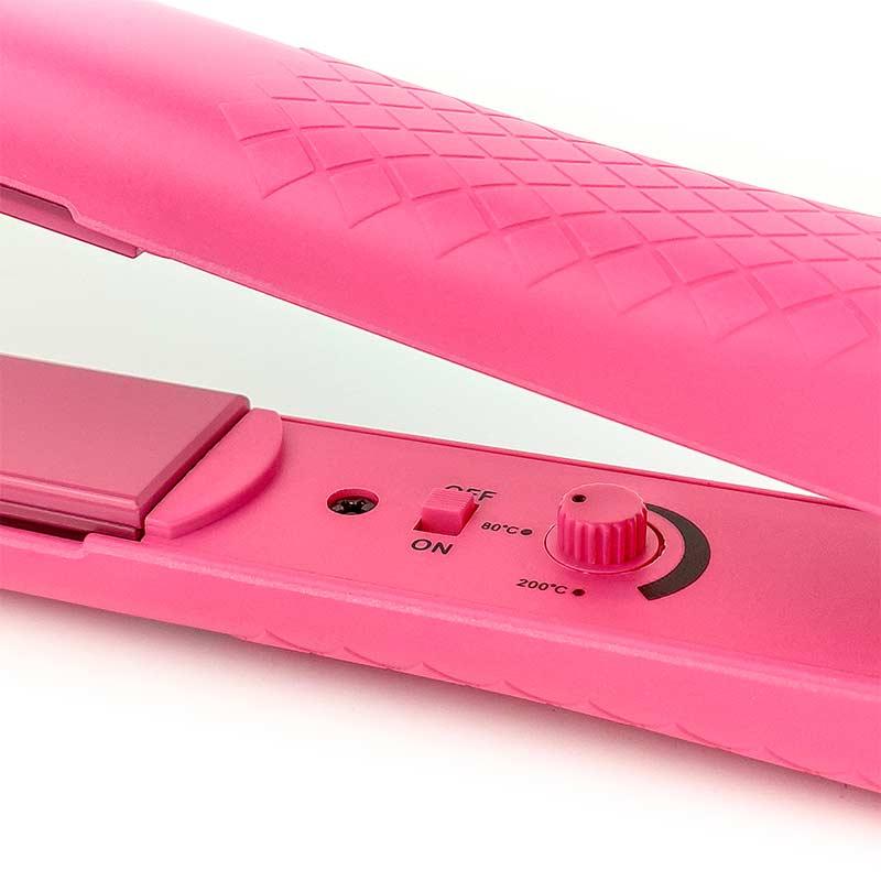 Plancha alisadora assuer ag naroa pink, detalles regulador de temperatura