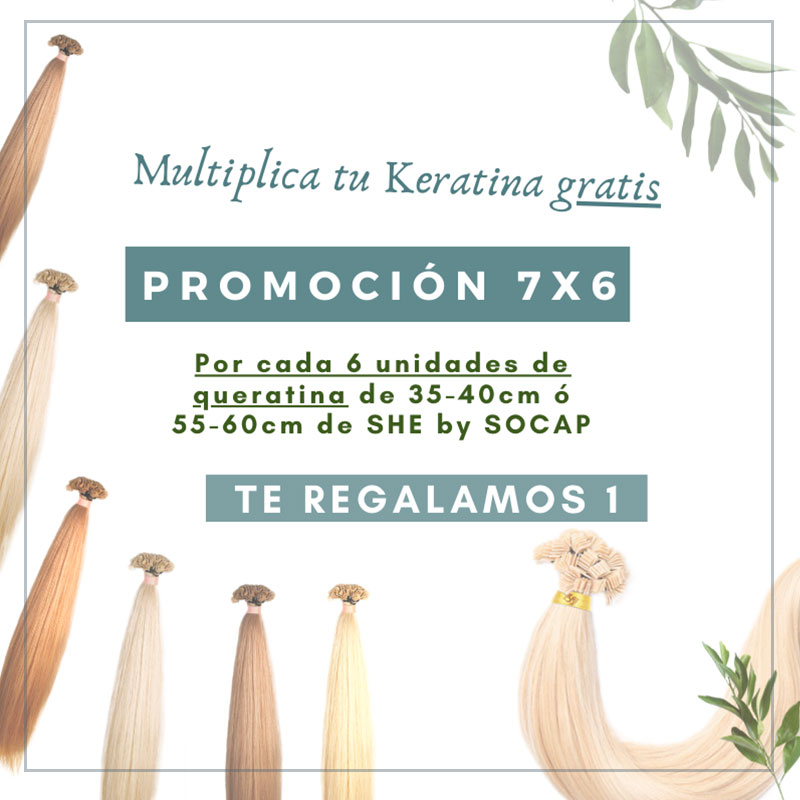 Promo extensiones de queratina she 7x6
