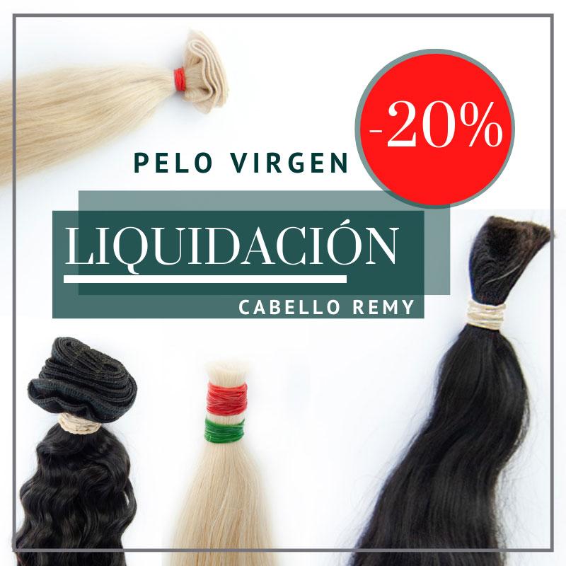 Promoción en pelo virgen europeo decolorado e hindú del 20% de dcto