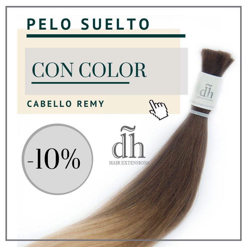 Ahora tu pelo suelto REMY de la marca DH Hair Extensions tiene un 10 de descuento